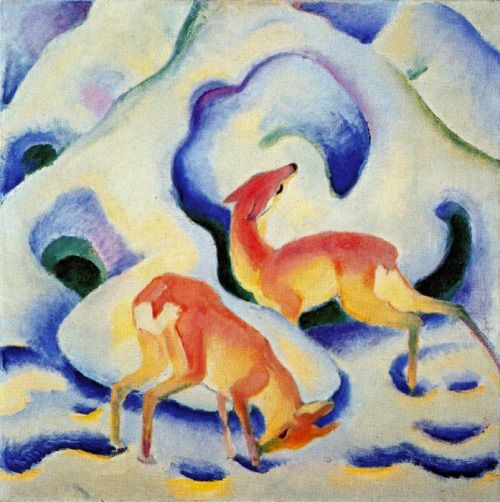 Franz Marc, Deer in the Snow