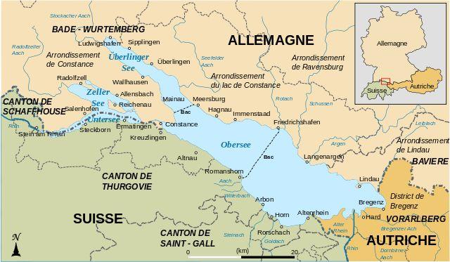 Karte Bodensee-fr