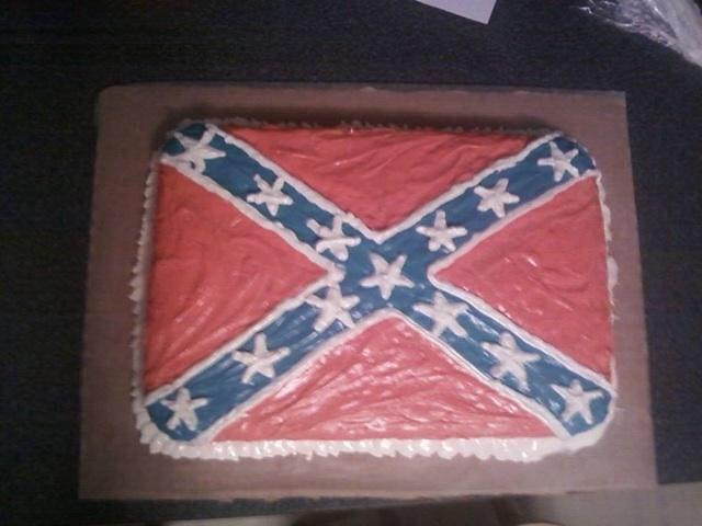 Rebel flag cake I made my brother