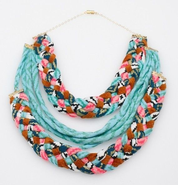 double braid fabric necklace | @Apple H, make me dat!  :)