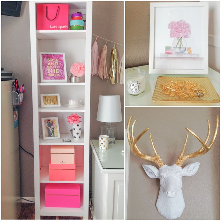 My Pretty Workspace: All Things Pretty Office Makeover - All Things Pretty featuring Kate Spade nesting boxes from UrbanGirl.com
