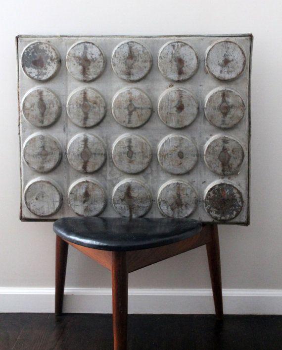 Industrial Modern Metal Artwork Pop Modern Bun by rhanvintage, $40.00