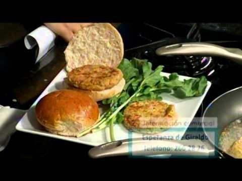 Hamburguesa de garbanzo y avena - YouTube