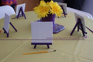 Tangled Rapunzel party painting