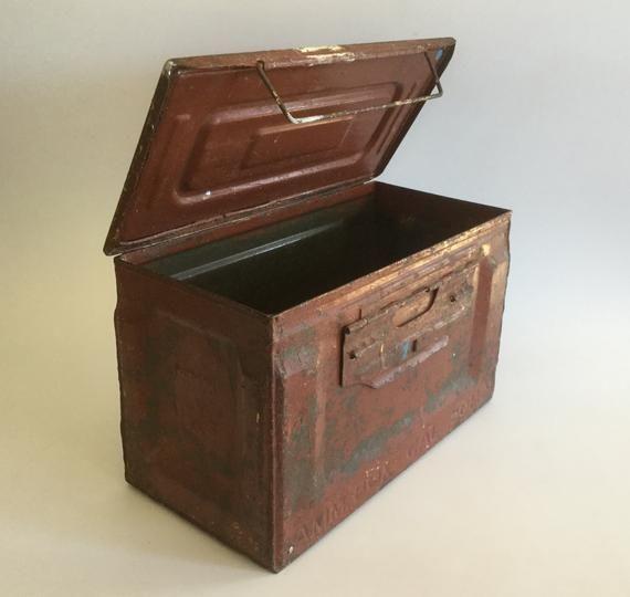 Vintage Ammo Box, AM BOX Cal 50 M2, Vintage Militaria, US Military