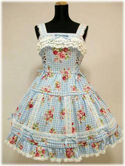 Angelic Pretty / Jumper Skirt / Horizontal Lace JSK