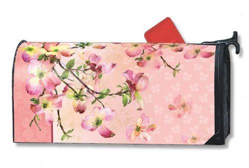Pink Dogwood Mailwraps Magnetic Mailbox Cover by Magnet Works. Save 19 Off!. $15.95. [Mailbox Cover Adapter Kit]:popup=http://www.flagsonastick.com/product/MBC9000/Mailbox-Cover-Adapter. Decorative mailbox covers are screen-printed for vivid, long-lasting colors.. Mailwraps are vinyl coated for durability. Made in the USA.. Mailbox cover includes 3 sets of large self-adhesive address numbers..  MailWraps  Mailbox Covers are pre-cut to fit a standard metal mailbox 6 1...