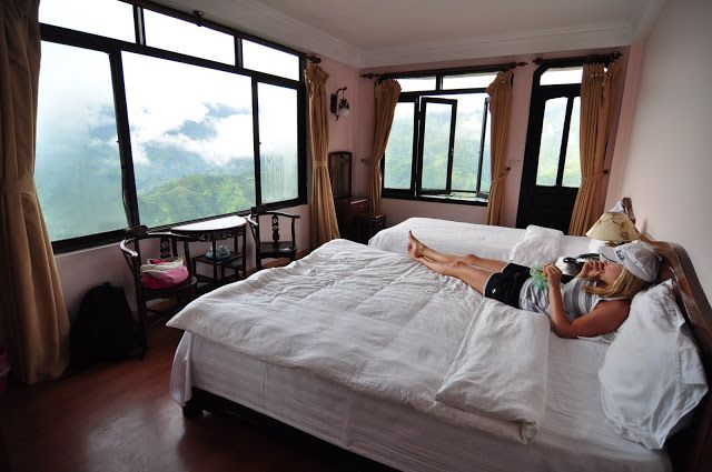 Mountain View Hotel - Sapa ask for room 202, 302, or 402! They have the BEST views, 2 walls of windows, and a balcony to go with them! one of my all time favorite hotel rooms! only $25.00 a night!