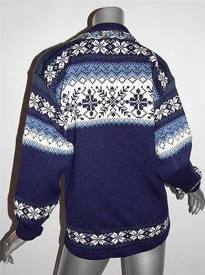 Norskwear Norway COB Sz XS Blue Cream Wool Cardigan Sweater Jacket | eBay