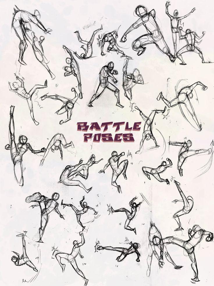 Battle Poses- Kick and Punch by NebulaInferno.deviantart.com on @deviantART