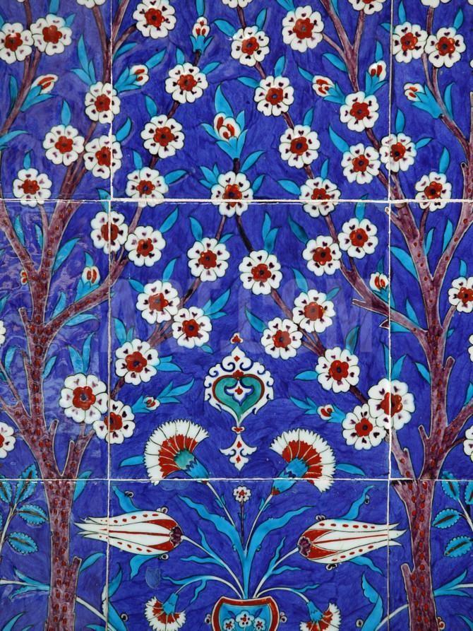 Iznik Tiles in Topkapi Palace, Istanbul, Turkey, Europe Photographic Print by Godong at Art.co.uk