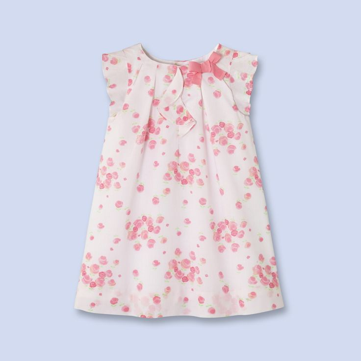 Pink floral cotton dress - Girl - PINK/MULTICOLORED - Jacadi Paris