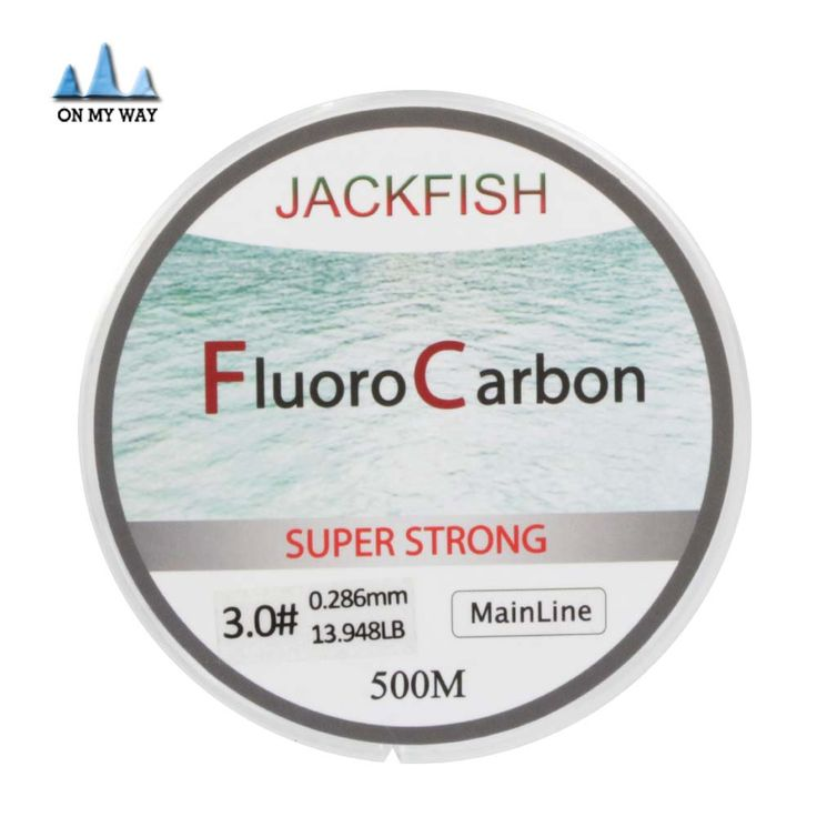 New Available 500M Fluorocarbon Fishing Line 0.165-0.46mm  5-32LB Carbon Fiber Leader Line brand fly fishing line pesca