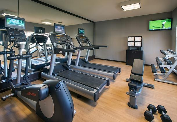Stay strong on your next extended-stay trip. Our fitness center offers state-of-the-art cardiovascular equipment and free weights to keep you on top of your game.