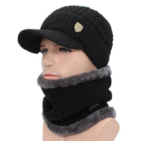 b6c0f5be419 AETRUE Winter Hat Skullies Beanies Hats Winter Beanies For Men Women Wool  Scarf Caps .