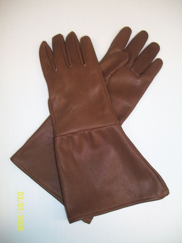 Men S Peanut Brown Top Grain Buffalo Leather Gauntlet