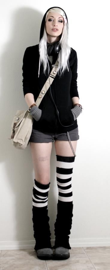 Cool. Love the legwarmers/knee highs whatever you want to call them.