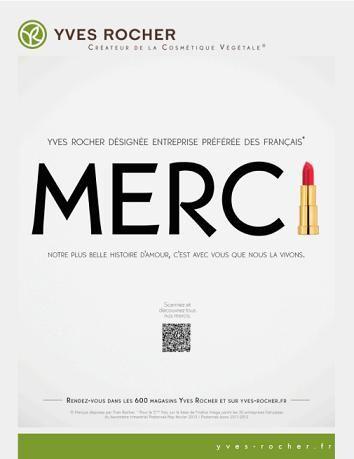 Yves Rocher remercie les Français
