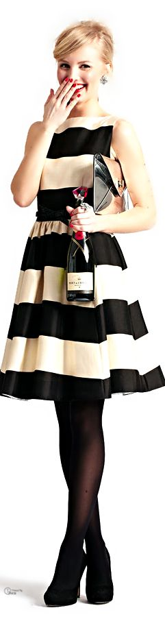 Striped bridesmaid dresses, Inspiration for Mobella Events, www.mobellaevents.com #wedding #katespade #dress