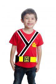 Camiseta Power Rangers Samurai Com Cinto