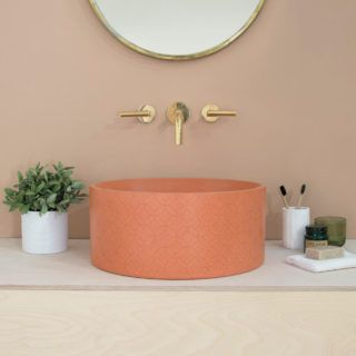 Kast-Concrete-Basins-Kast-Canvas  British brand Kast Concrete Basins has unveiled a new series of patterned sink basins called Kast Canvas. The collection includes three designs that explore the possibilities of what concrete can offer with elegant surface patterns. The subtle, textural designs are an unexpected detail on the minimalist basin