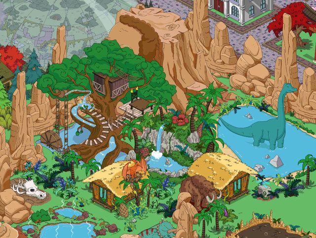 capanno rigelliano - monte carlmore - albero scivolo - lago dei dinosauri - cupola per la battaglia - acque termali - giungla preistorica