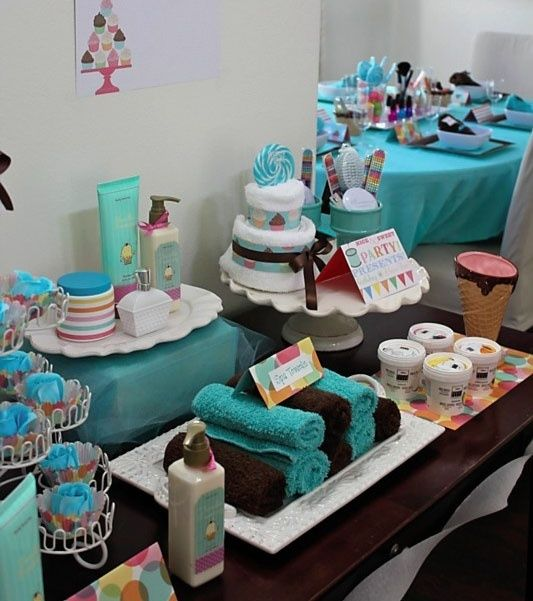 Sweet Spa Party kids-parties...pinning to fit this into a more grown up version