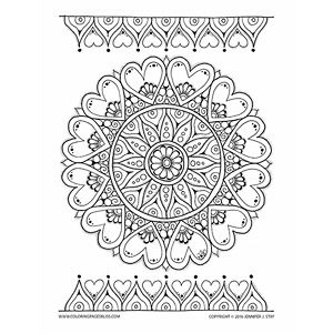 2016 Valentines Coloring Pages