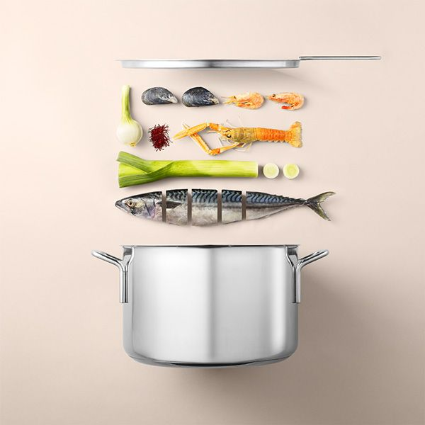 Minimalist Visual Recipes Display Neatly Arranged Ingredients And Utensils - DesignTAXI.com