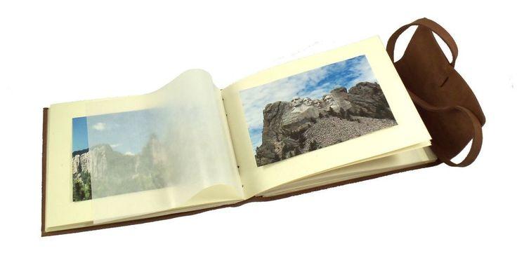 RUSTIC HIGH QUALITY GENUINE LEATHER PHOTO ALBUM Scrapbook - Perfect Unique Gift