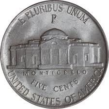 #3 - 1942-1945 silver Jefferson nickel. This is a war nickel. Always tell by the mint Mark above the dome. P-D or S.