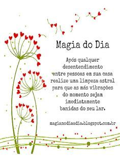 Magia no Dia a Dia: Magia do Dia: Brigou? Limpou! http://magianodiaadia.blogspot.com.br/