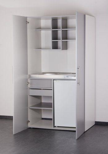 Mebasa MK0011S Schrankküche, Miniküche, Single Küche in Silber/Grau mit weißem Korpus 100 cm mit Kühlschrank, Spüle und Glaskeramikkochfeld Mebasa http://www.amazon.de/dp/B008YDFI1G/ref=cm_sw_r_pi_dp_fuxLwb06EWC1Z