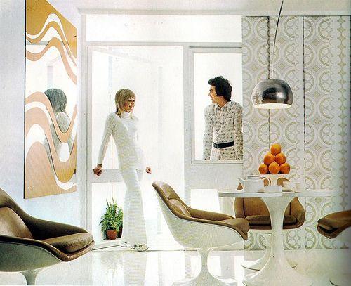 Stylish 70s Interior by Beautiful Rodney, via Flickr