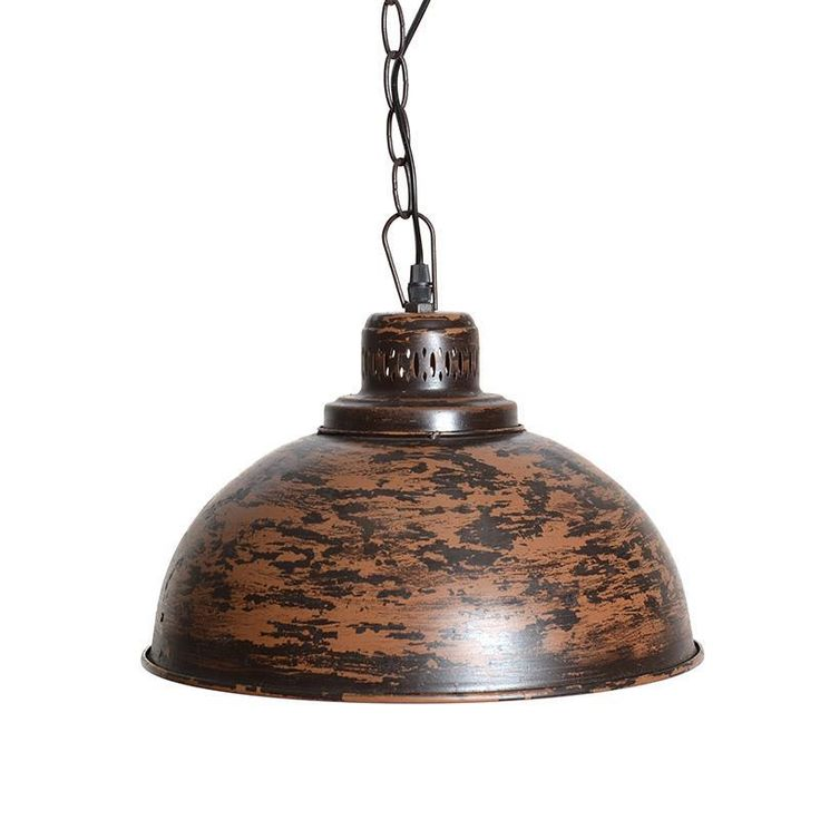 Dazzling ceiling lamp in brown color. www.inart.com