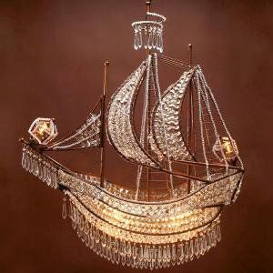 Crystal Ship Chandelier | Hanging Lamps | Lighting | Z Gallerie on Wanelo