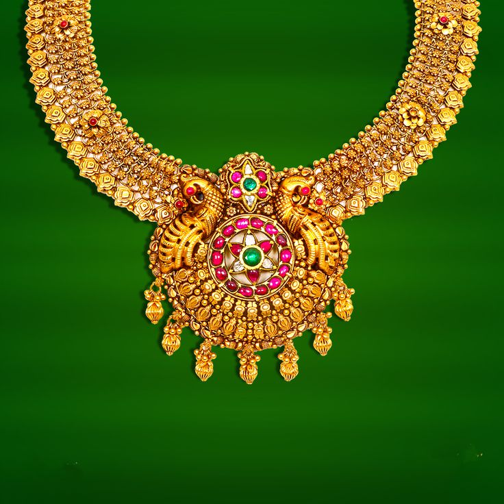 GRT Temple Jewellery Designs, Temple Jewellery Necklace Collections