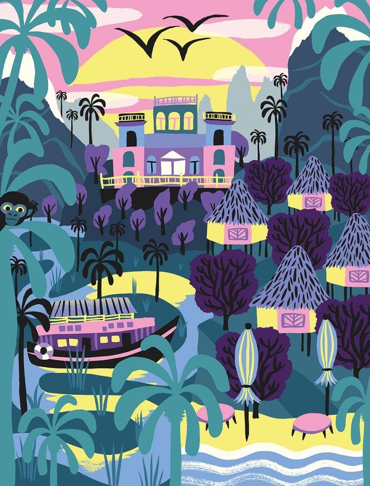 Illustrated cultural series celebrates Chile, Colombia, Mexico and Peru | Creative Boom