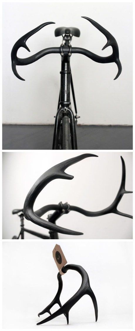 Velvet antler bicycle handle