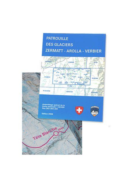 """Carte topographique -Topographic map - """"Patrouille des Glaciers"""""""