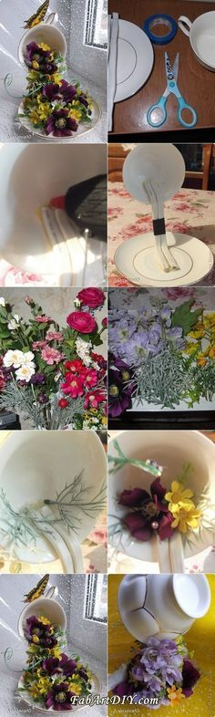DIY Floral Topiary Flying Cup
