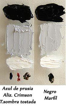 Mezclas de colores 4: cómo obtener el color negro y gris | Pintar al óleo