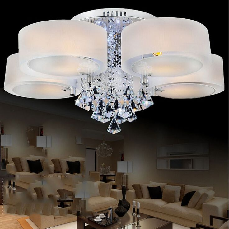 97.75$  Watch here - http://alin19.worldwells.pw/go.php?t=32779942764 - Top Modern Kids Ceiling Lamps Led E27 110V-220V Home Lighting Remote Control Crystal Ceiling Lights White Ceiling Lamp