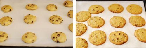Step 4- eggless choc chip cookie