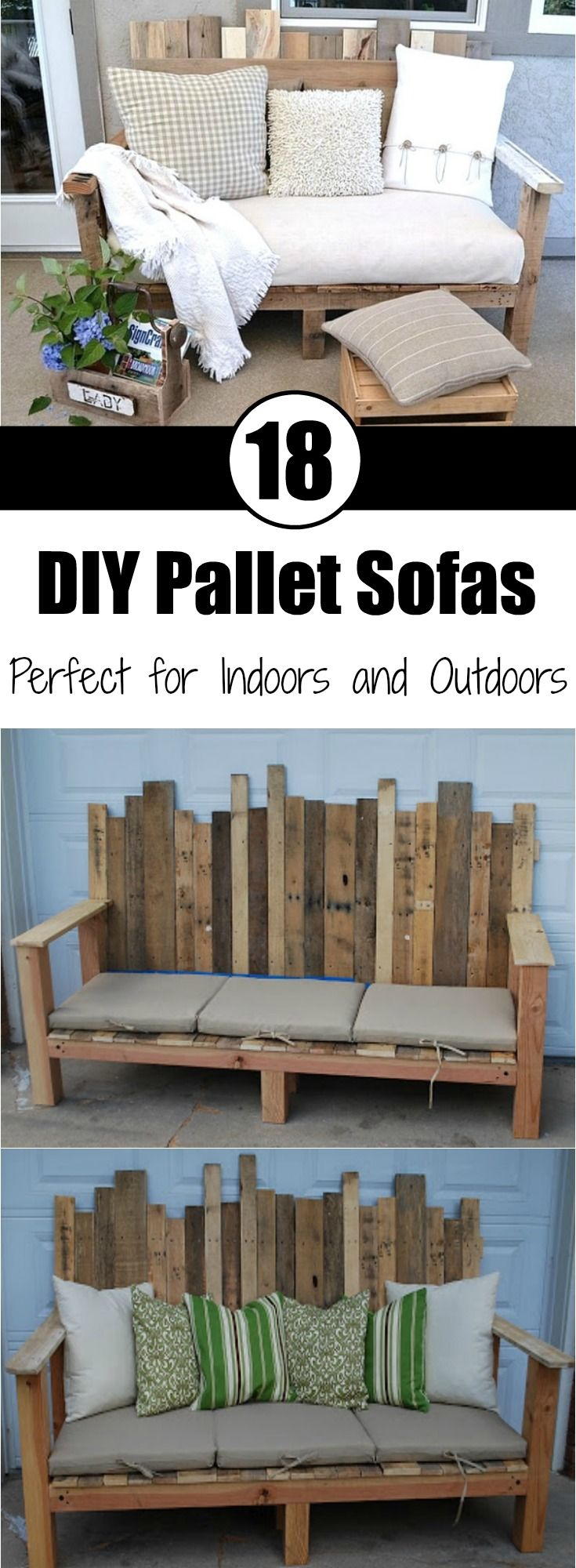 18 DIY Pallet Sofas Perfect for Indoors