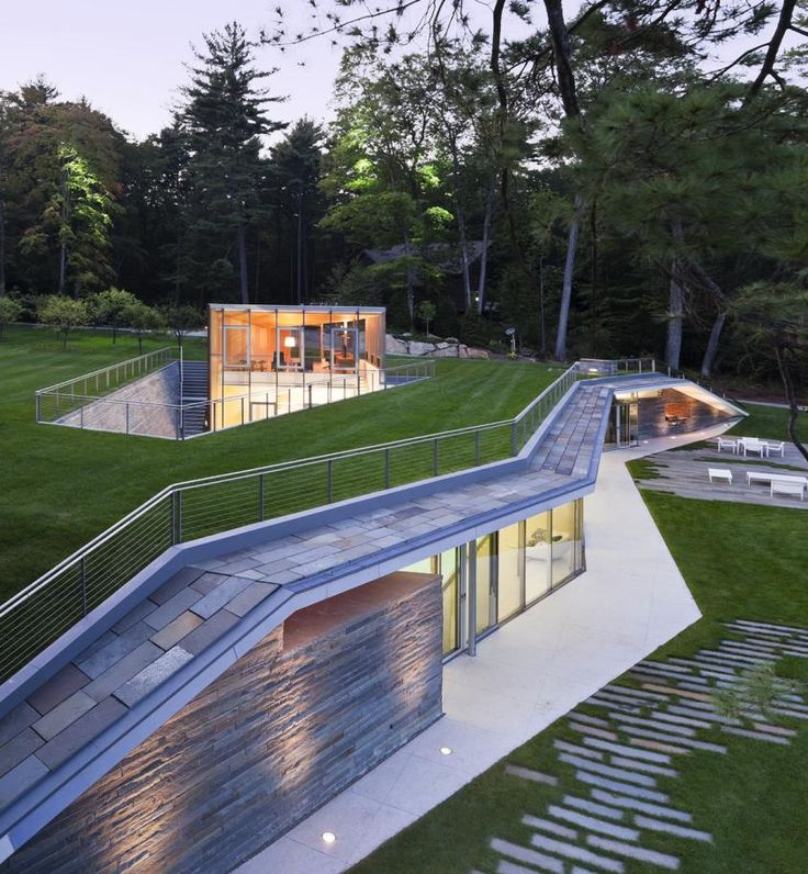 Another good sectional/material study: Pool Pavilion by Gluck+
