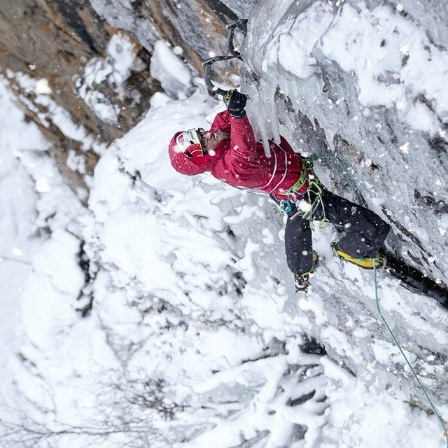 There is something about #iceclimbing... Photo of team #climber @hansjoergauer taken by @woodslave