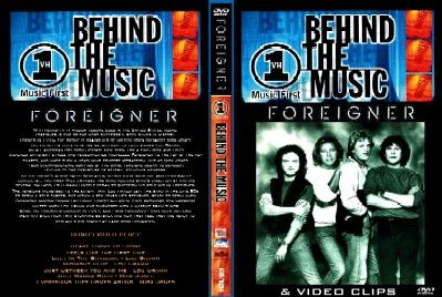 DVD - VH1 BEHIND THE MUSIC - DOCUMENTARY - 45 MINUTES & BONUS: RARE VIDEO CLIPS LOU GRAMM & MICK JONES SOLO - 27 MINUTES PRO SHOT - INCLUDING MENUE