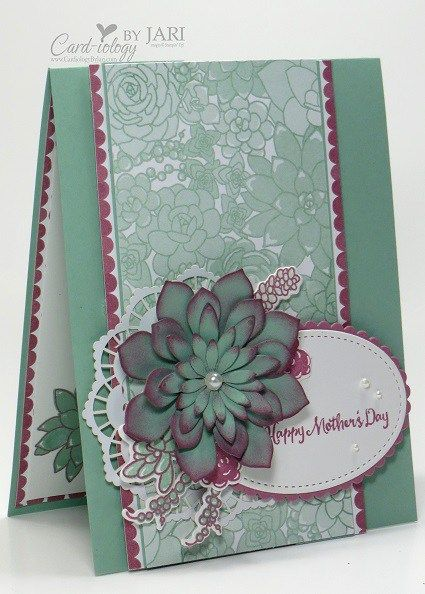 Stampin' Up! Oh So Succulent Cardiology by Jari