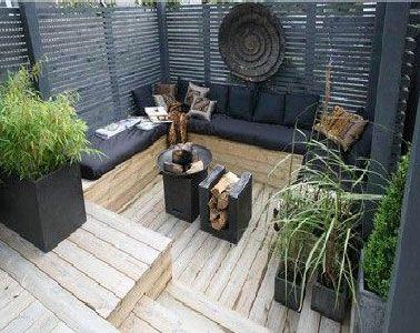 Envie de revoir la déco de la terrasse ? Installer un auvent, poser un sol bois, des dalles de galets du gazon synthétique pour une déco terrasse zen
